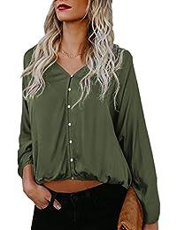 Unita Blusa Quotidiani Casual T Camicie Estivi Shirt Camicetta Tinta Donna Fashion Sciolto Simple BUA6qTxZ