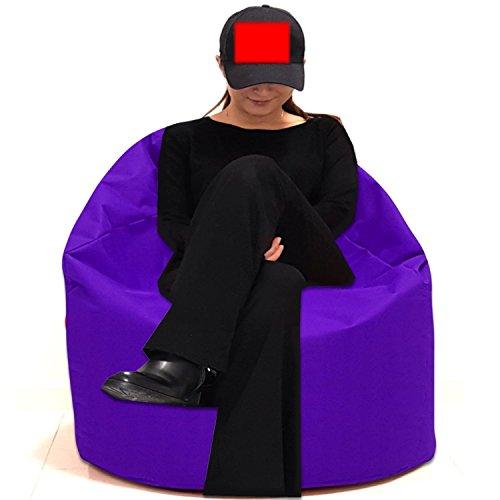Sitzbag Sitzsack Größe S-M-L-XL-XXL-XXXL mit Styropor Füllung - In & Outdoor Größen - Bean Bag Sitzkissen Bodenkissen Hocker Kinder Sitzsäcke Möbel Kissen Sessel Sofa (XXXL - ca.88cm, Lila)