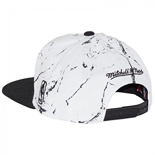 Mitchell & Ness Cap Chicago Bulls Marble Logo White/Black
