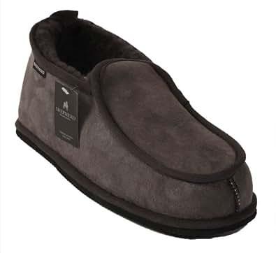 Pantoufles classiques homme en peau de mouton grise - Taille 41