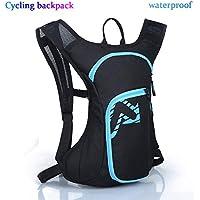 QZH Mochila para Bicicleta 7L Mochila Impermeable Ultraligera para Montar Al Aire Libre con Bolsa Luminosa Todoterreno Adecuada para Bolsas De Escalada Al Aire Libre para Hombres Y Mujeres,Azul