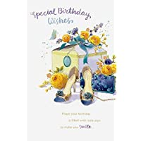Shoes & Flowers Birthday Card