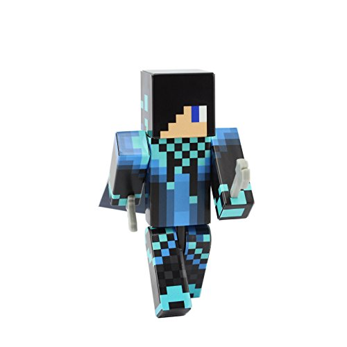 "Azul cool guy pixelaction figura por endertoys – 4 ""plástico figura de acción"