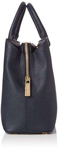 Grau Michael Kors Admiral Savannah Tornistertasche Leather Damen Blue Saffiano Medium Satchel f8qwfdr1