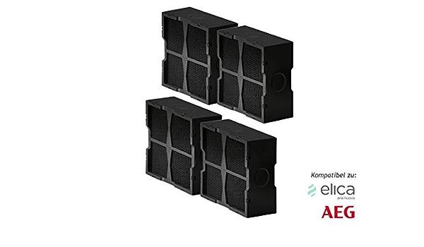 Elica KIT0147855 Kohlefaserfilter 4 Stück Kochfeld-Dunstabzug Umluftzubehör