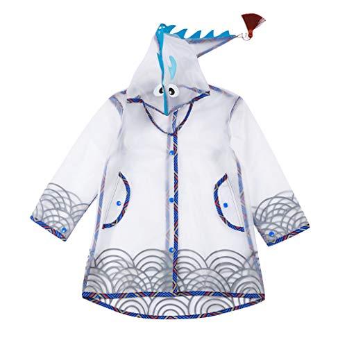 Büro Kostüm Im Dinosaurier - FRAUIT Regenmantel Kinder Jungen Mädchen Regenjacke Regen Quasten Dinosaurier 3D Lightweight Rainwear Slicker 2-12 Years