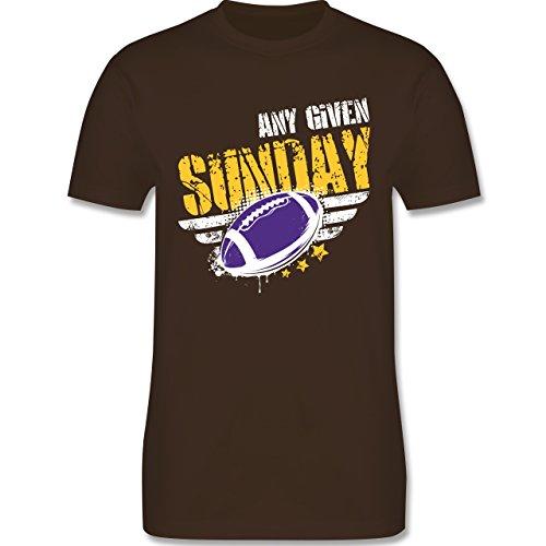 Shirtracer American Football - any Given Sunday Football Minnesota - Herren T-Shirt Rundhals Braun