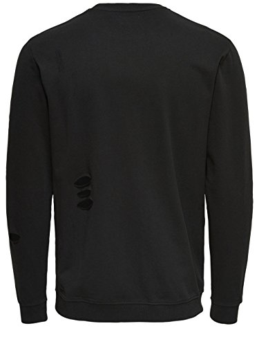 ONLY & SONS - Felpa uomo new freeman crew neck 22006908 Nero