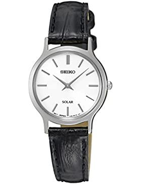 Seiko Damen-Armbanduhr Analog Quarz Leder SUP299P1
