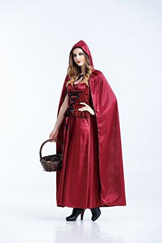 Ruanyi Halloween Cosplay Kostüm Rotkäppchen Vampir Langes Kleid Gothic Königin Kostüm für Frauen (Size : L)