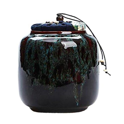 Chinesischer Tee / Kaffeebeh?lter, S??igkeiten / Snack Pot Tee-Blatt-Aufbewahrung Keramik-Topf Blau #27 (Chinesische Keramik-topf)