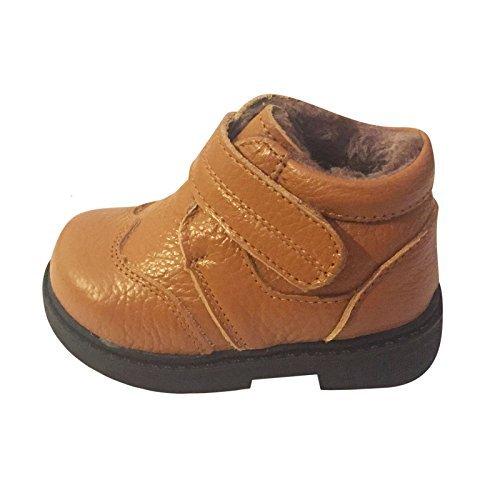 Jungen Kleinkind Kinder Echtleder Winter Ankle Boots Größe Hellbraun