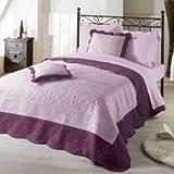 Nuances du Monde 3006995 Tagesdecke aus Polyester, 240x220x220cm, Flieder/Violett