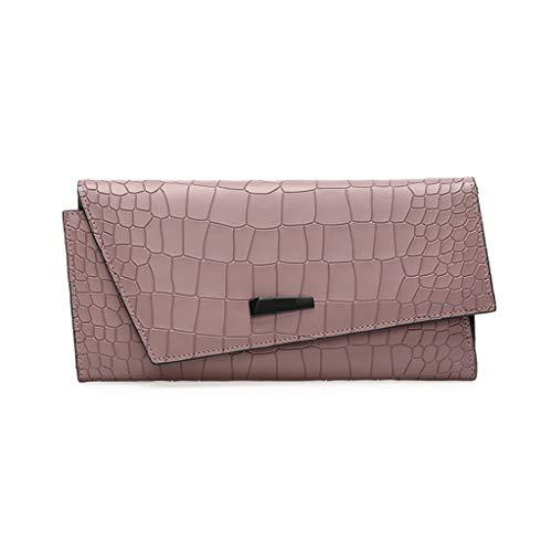 TTW Brieftasche Brieftasche weibliche 2018 Neue Multifunktions Lange Schnalle weibliche Business Handtasche Damen Leder Brieftasche Multi-Card Krokodil Muster Brieftasche Geschenk - Lila Krokodil-design