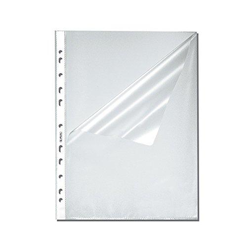 Herlitz 10840098 Prospekthülle A4 genarbt, 300er Packung, oben und seitlich offen