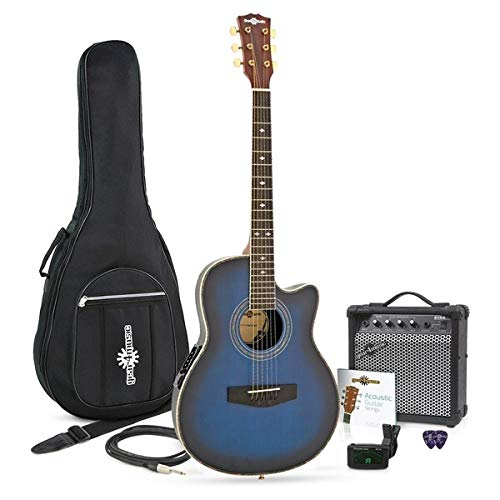 Guitarra Electroacústica Roundback + Ampli de 15 W Blue Burst