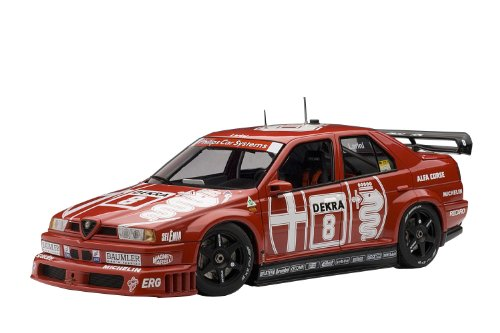 1993 Alfa Romeo 155 V6 Ti Dtm [Autoart 89303], #8, Larini, Winner Zolder, 1:18 Die Cast