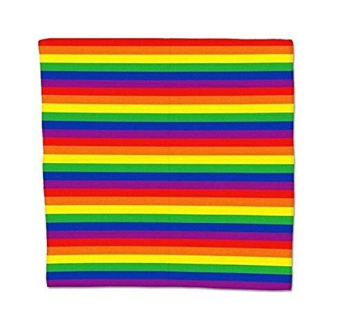 B-Creative LGBTQ Halstuch, aus Baumwolle, gestreift, für Partys, Gay-Parade, LGBTQ (Tv Show Motto Kostüm)