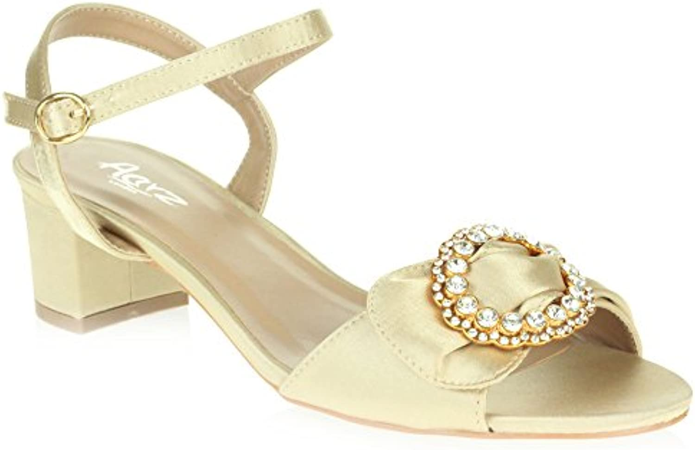 60e4bc368898 AARZ LONDON Heel Womens Ladies nhta-18560 Diamante Evening Wedding  B07BDMDPMQ Party Prom Casual Open Toe Block Heel Sandal Shoes Size  B07BDMDPMQ Parent ...