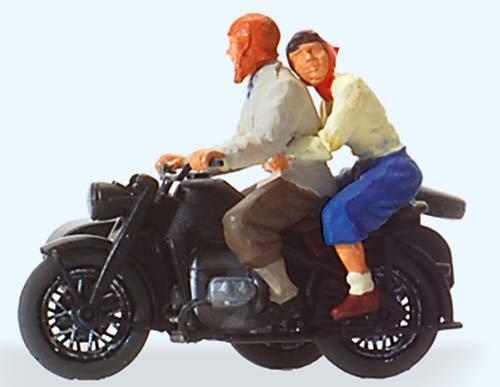 Preiser 28148 H0 Motorradfahrer auf Zündapp KS 750