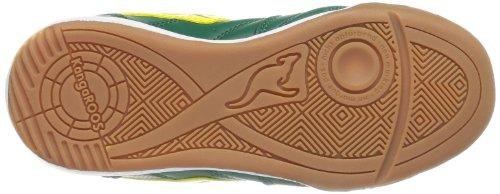 KangaROOS Power Court, Jungen Sneakers Grün (green diamond/yellow 877)