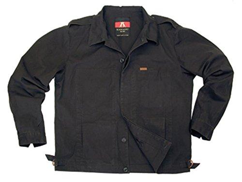 Herren Outdoor Jacke in blau und braun aus robuster Baumwolle ohne Innenfutter, eine echte