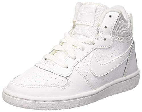 Nike Herren Court Borough Mid (Gs) Basketballschuhe, Weiß (White/White/White 100), 38.5 EU