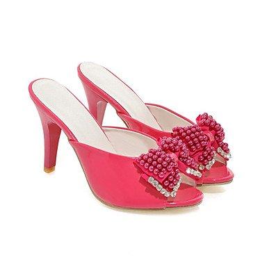 LvYuan Sandali-Matrimonio Formale Serata e festa-Con cinghia Club Shoes-A stiletto-Vernice-Nero Rosa Rosso Bianco Pink