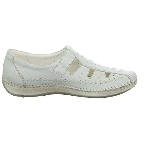 scarbella 7105-33030 Damen Slipper Halbschuh gelocht oder geflochten diverse Böden Weiß (Grau)