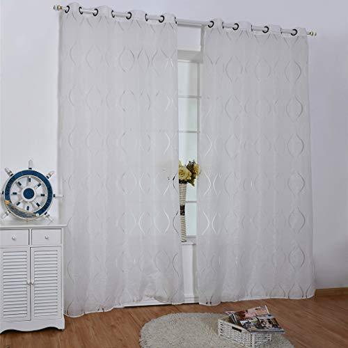 Fgyhtyjuu onde tenda di finestra pannello di sheer divisori semi-blackout ciechi di finestra ufficio soggiorno camera da letto tende 100 * 200/250