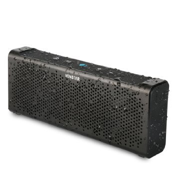 Venstar Waterproof Wireless Bluetooth 4.0 Speakers, 2*5W Dual Passive Radiators/Boombox With 15-hour Playtime, Portable Bluetooth Rechargeable Speaker for iPhone, iPad, Samsung, Nexus, HTC and More