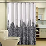 200 Wide 180 high : Waterproof Bathroom Curtains White Black Polyester Shower Curtain Letters Tower Modern Fabric Customized Bath Curtain