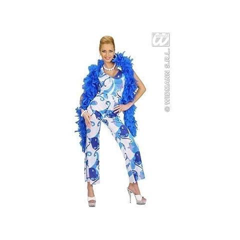 Blauer Disco-Kostüm Overall für Damen (70er Jahre Disco-kostüme Für Kinder)