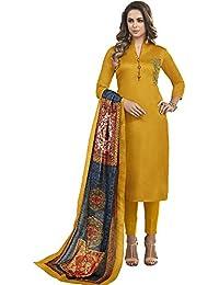 Vasu Saree Haldi Yellow Heavy Jam Cotton With Designer Hand Work Long Stitched Suit