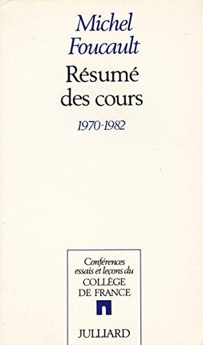 RESUME DE COURS 1970-1982