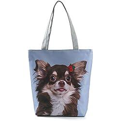 Bolso con bonita estampación de pequeño perro.