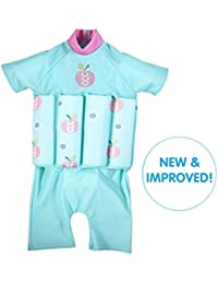 Splash About–Flotador infantil sol protección, traje, Infantil, Apple Daisy zip, 2-4 years (Chest: 56cm | Length: 40cm)