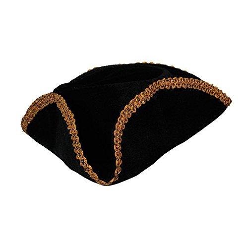 buona consistenza scarpe autunnali nuovo stile del 2019 Wicked Costumes - Cappello tricorno da capitano dei pirati, con bordo dorato