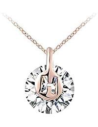 Dawn Davison - Collar con colgante (oro rosa y diamante blanco), diseño de rosa
