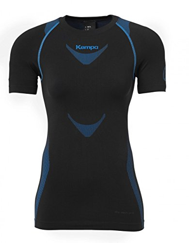 Kempa Erwachsene Bekleidung Teamsport Attitude Pro Shortsleeve Damen T-shirt, schwarz/kempablau, M/L -