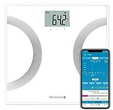 Medisana BS 445 Connect, Bilancia Digitale per Analisi Corporea 180 Kg, Bilancia Personale per La Misurazione del Grasso Corporeo, Acqua Corporea, Massa Muscolare e Peso Osseo con App
