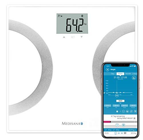 Gracias a la cooperación innovadora de su smartphone y de esta báscula, siempre podrá realizar un seguimiento de sus medidas y datos corporales en casa y o donde quiera, con esta báscula de análisis corporal BS 445 con tecnología Bluetooth Smart de M...