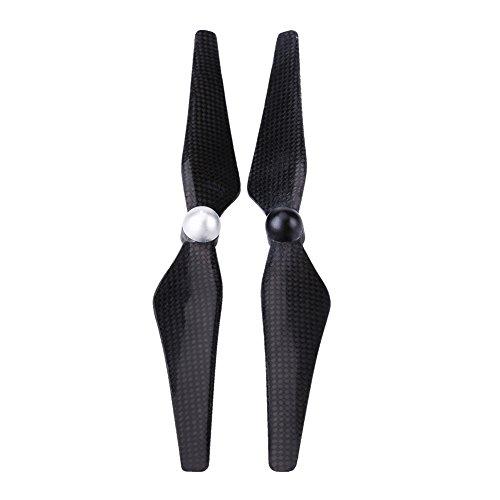 Alomejor Karbon Propellerblätter, lärmarme Propeller 9450 Klingen Quick Release CCW/CW Ersatz Propellerblätter Zubehör für DJI Phantom(Schwarz & Silber) -