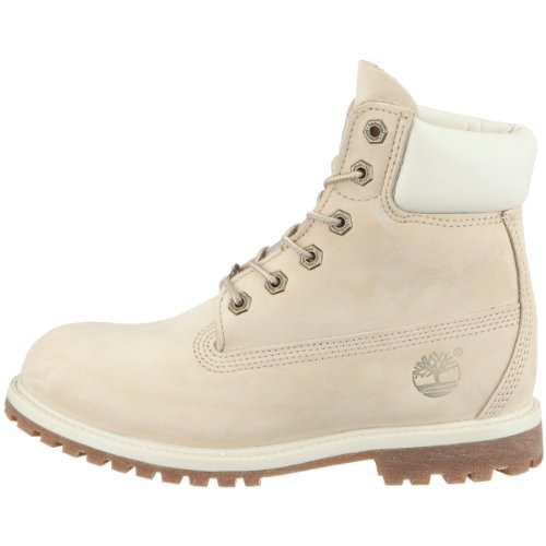 Timberland 6in premium boot, boots femme Blanc (Winter White)