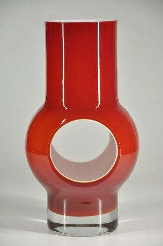 Glasfeld, Red, Fireplace, Murano Glass Vase, Design, Hand-made