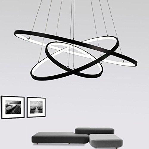 ... 72W LED Pendelleuchte Esstisch Modern Drei Ring Design Lampe Innen  Beleuchtung Hängelampe Acryl Kreative Leuchte Einfache ...