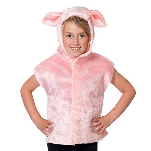 Schwein kostüm für Kinder - Einheitsgröße 3-9 Jahre.