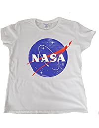 Toykoshi NASA - Camiseta para Mujer, Logo Meatball, Cuello Redondo, Oficial (GTP