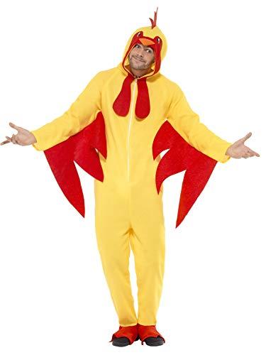 Smiffys Unisex Hühner Kostüm, All-in-one mit Kapuze, Größe: M, 27857