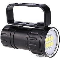 Fdit 15 x L2 Brillante LED Linterna de Buceo Antorcha de Aluminio Sumergible Impermeable Fotograf/ía Video Antorcha Socialme-EU